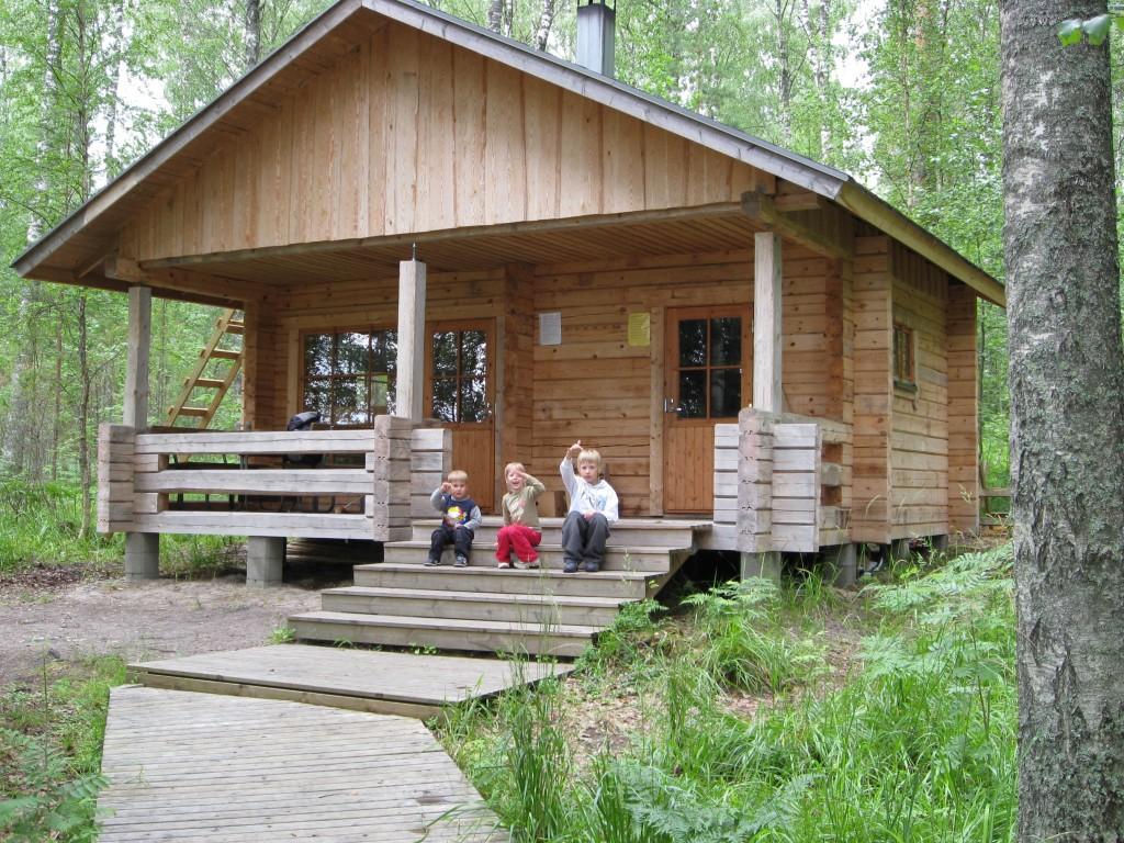 Korvensaaren virkistysalueen sauna Luonterilla Mikkelissä
